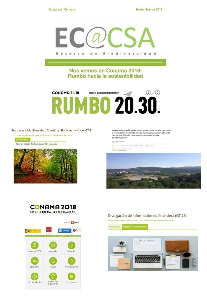 Boletín Ecoacsa en Conama 2018